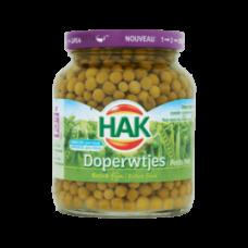 HAK Extra Fine Green Peas (DOPERWTJES) Jar 700g